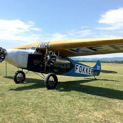 Fokker FII, for genomen op de filmset van De Vliegende Hollanders in Hongarije.