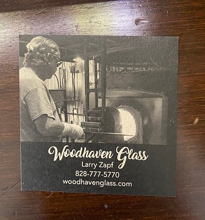 Glassblowers card and website