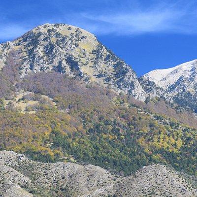Alcune delle vette più alte del Parco del Pollino nel periodo autunnale