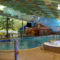 Leisure Pool, features waves and sprays at certain times.