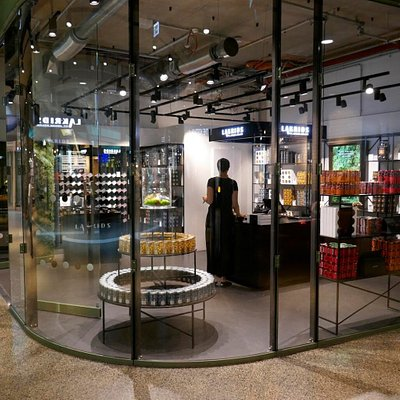 Our store is located at the main entrance on the first floor.