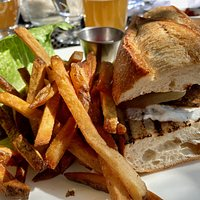 Tasty bread and very good burger! French fries too!