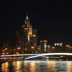 Большой Устьинский мост, Москва-река, вид с прогулочного кораблика.
