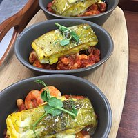 Yummy Saffron Cod with seafood cassoulet.