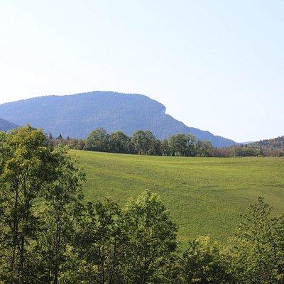 Vue du paysage lors de notre randonnée