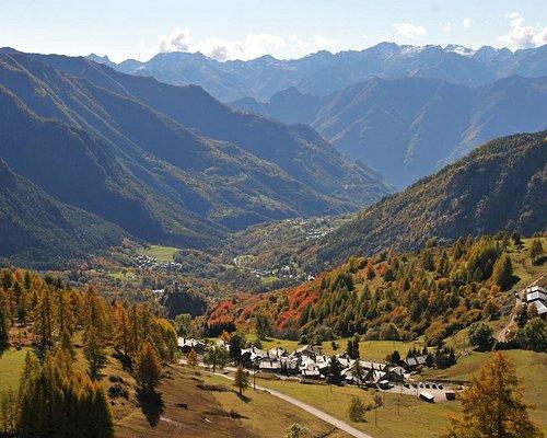 Fenilliaz, un des hameaux de Brusson (Italie). octobre 2020