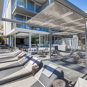 Our pool area overlooking Camps Bay Beach