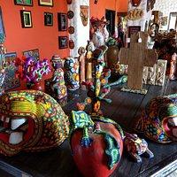 Tienda de artesanías dentro de Palacio de Gobierno
