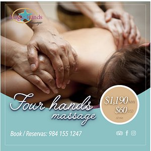 Our special this month! Four hands massage, book it now!