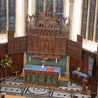 Bird's eye view of the Altar and reredos.