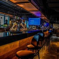 Bar with extensive beverage menu