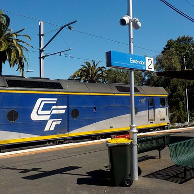 rare sight, the East Kilmore stone train is held up at a red light