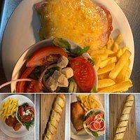 Chicken Parma & Garlic cheese bread
