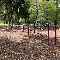 Verejné detské ihrisko v parku Kinderspielplatz Rockelmannpark