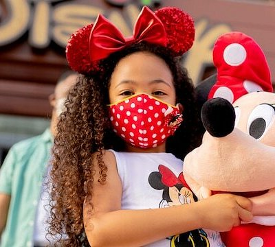 Disney Girl with Minnie Mouse