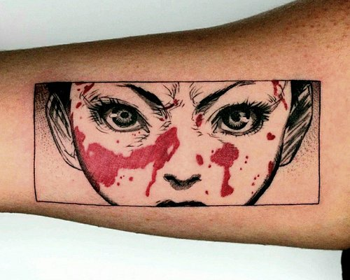 Tattoo done by artists at Yant Studio