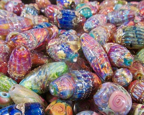 Double Helix Handmade Glass Beads by Sarah Klopping....Made on Maui.