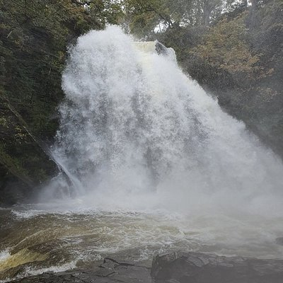 The waterfall in full flow in October after plenty of rainfall