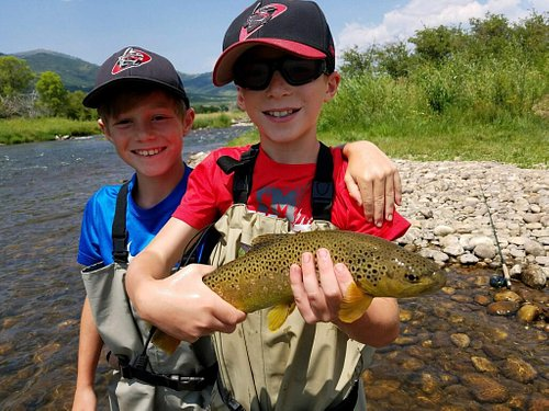 This is what it is all about brothers making memories on the river while out on a guide trip with us