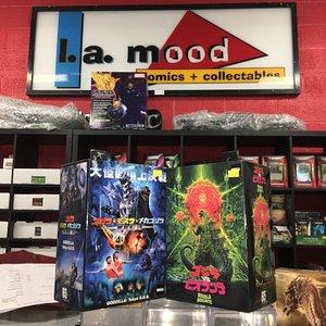 Godzilla spotted at L A Mood!