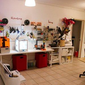 Cosy makerspace studio