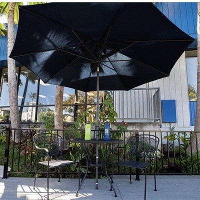 Outside patio overlooking the heart of Kona