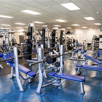Newly renovated weight room