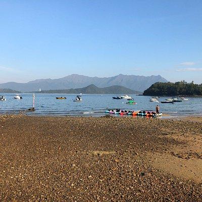 Wu Kai Sha - pebble beach in Ma On Shan