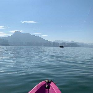 Doing a bit of kayaking from Wu Kai Sha beach