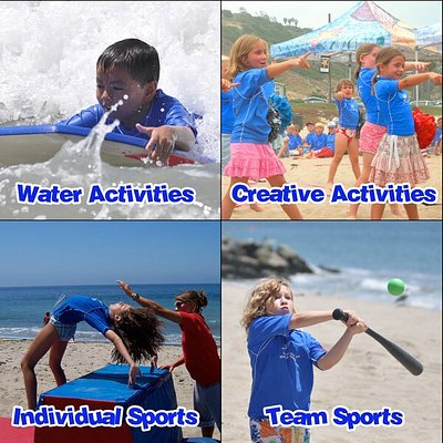 For the past 22 years Fitness by the Sea Summer Beach Camp has been offering children, ages 4-14, the opportunity to spend the day at the beach in Santa Monica participating in activities like surfing, swimming, arts and crafts, soccer, gymnastics, baseball, hip-hop dance, martial arts…over 50 daily activities. Register your child for any days you wish, with no minimum days or weeks. We are recognized as the safest beach camp in the Los Angeles for the past 22 years.