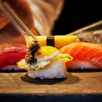 Trilogía de nigiris del restaurante Kabuki Wellington