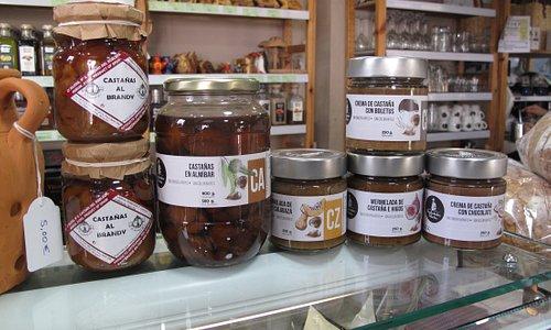 Muestra de mermeladas artesanas y conservas vegetales. Recolectados Selectos Sierra de Aracena.