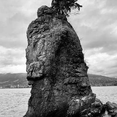 Siwash Rock up close