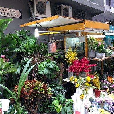 Gresson Street Market in Wanchai