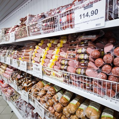 Мясная продукция, в основном местные производители