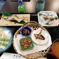 あゆ寿司・天ぷら膳