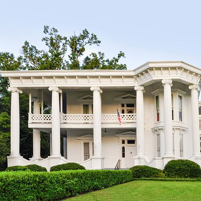 The historic Greek Revival Merrehope, (circa1858) - National Register of Historic Places and Mississippi Landmark