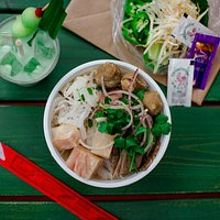 Pho Train paired with Durian Horchata