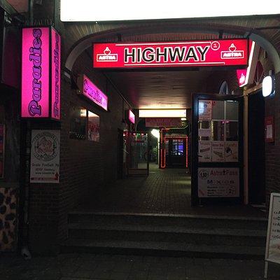 Fachada del Highway, justo donde se situaba la entrada al Star-Club en la década de 1960.