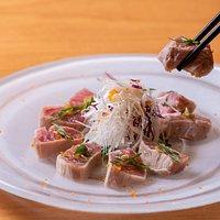 Tuna cutlet sashimi