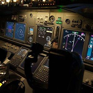 Cockpit of 737 Flight Simulator