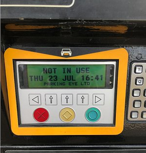 Display on the meter when we visited the site.