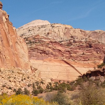 View along the Scenic Drive in Capitol Reef National Park, UT (#5 of 6)