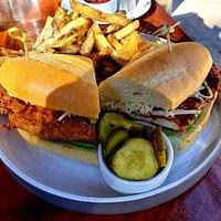 Nashville Hot Crispy Chicken Sandwich w/Truffle Fries