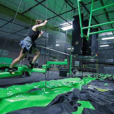 Instead of a Foam Pit, we installed a self inflating Air Bag that is truly awesome! With a ninja course suspended above it, it makes for a thrilling and FUN experience. Only at Get Air at the Silo.