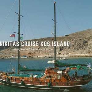 Cruise with our beautiful green ship and visit 3 Islands on one day. Pserimos Kalymnos and Plati for a Greek experience