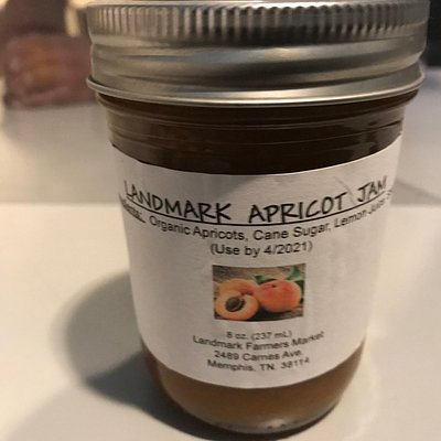The apricot jam is made with fresh apricots from our apricot tree.