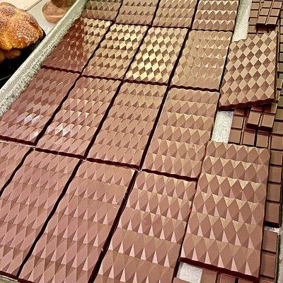 Barras de chocolate. Diciembre 2020