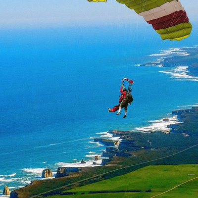 Skydive 12 Apostles - Australia's most spectacular skydive. Take off from the Great Ocean Road Airport, fly over the iconic 12 Apostles and the most beautiful scenery Australia has to offer. Skydive 12 Apostles - the best and the only true Great Ocean Road skydive experience!
