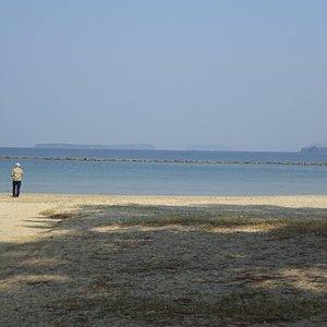 そんなに広くない海岸ですが白砂が美しいな場所です。